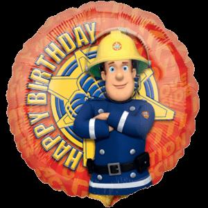 Happy Birthday Fireman Sam Character Balloon in a Box