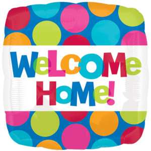Welcome Home Bright and Colourful Balloon in a Box