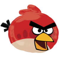 Red Angry Birds Balloon in a Box