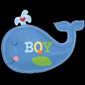 Ahoy Blue Whale Baby Boy