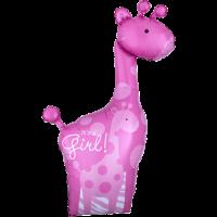 Baby Pink Giraffes Balloon in a Box
