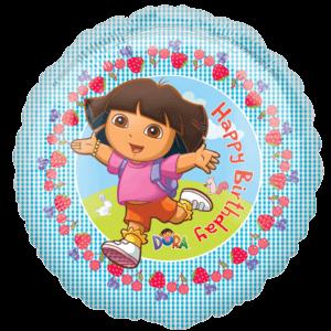 Dora Explorer says Happy Birthday Balloon in a Box