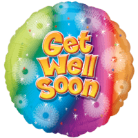 Get Well Soon Colourful Stars Balloon in a Box