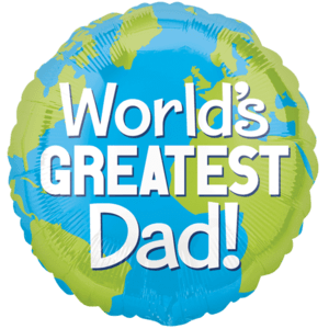 Dad Greatest In The World Balloon in a Box