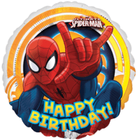 Ultimate Spider-Man Circle Happy Birthday