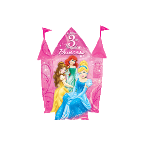 3rd Birthday Disney Princesses Castle  Balloon in a Box