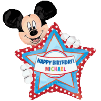 Giant Mickey Mouse Personalised Birthday Balloon in a Box