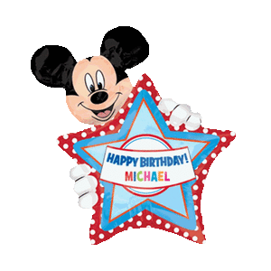 Mickey Mouse Giant Personalised Birthday Balloon in a Box