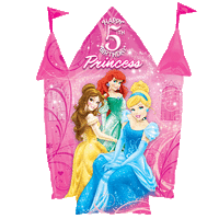 5th Birthday Castle Disney Princesses Balloon in a Box