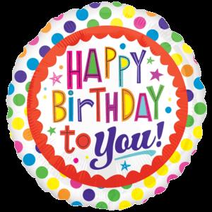 "18"" Colourful Happy Birthday Balloon in a Box"