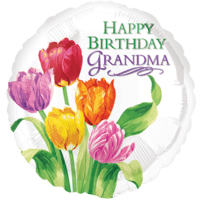 Flowers Birthday Grandma Balloon in a Box