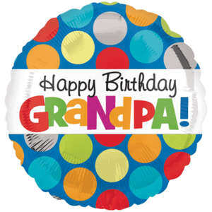 Dots Grandpa Birthday Balloon in a Box