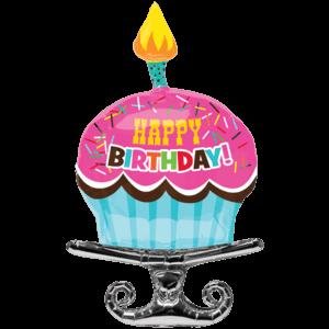 "37"" Happy Birthday Cupcake Sprinkles SuperShape"