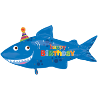 Happy Shark Birthday Supershape Balloon in a Box