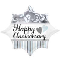 Elegant Happy Anniversary Burst Balloon in a Box