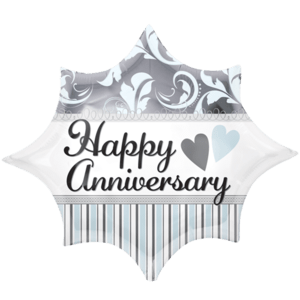 Elegant Anniversary Burst Balloon in a Box