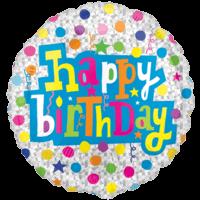 Colourful Happy Birthday Dots