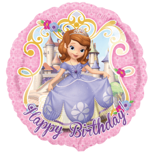 "18"" Sofia Happy Birthday Balloon in a Box"