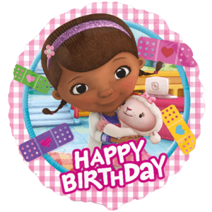 Doc McStuffins Characters Happy Birthday Balloon in a Box