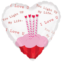 I Love You Cupcake Balloon in a Box