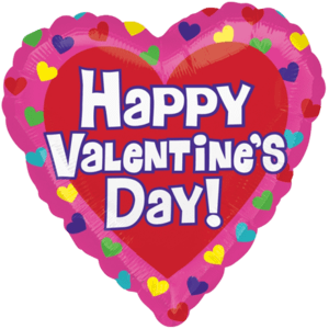Large Valentine's Day Multi-Colour Hearts Balloon in a Box