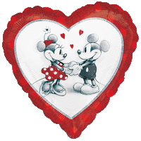 Disney Mickey and Minnie Mouse Love Heart Balloon in a Box