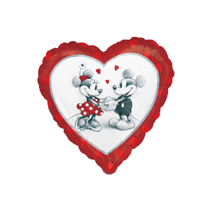 Mickey and Minnie Love Sketch Balloon in a Box