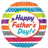 "21"" Happy Father's Day Stripes & Dots Balloon in a Box"
