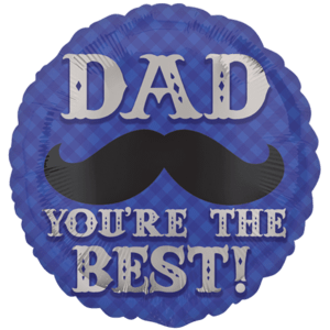 Best Dad Moustache Balloon in a Box
