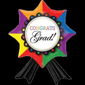 Grad Congrats Ribbon Balloon in a Box