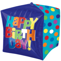 "15"" Happy Birthday Dots Balloon in a Box"