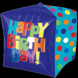 "15"" Happy Birthday Dots Balloon in a Box"