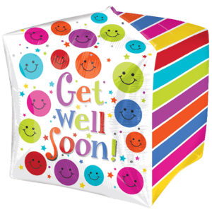 Cubez Smiley Get Well Soon Balloon in a Box