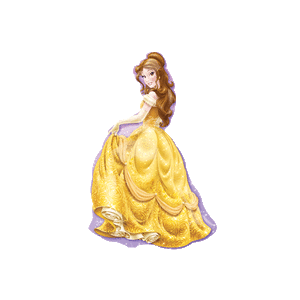Ballroom Princess Belle Balloon in a Box