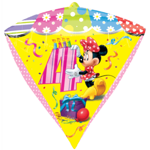 4th Minnie Mouse Birthday Balloon in a Box