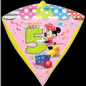 Age 5 Minnie Birthday Balloon in a Box