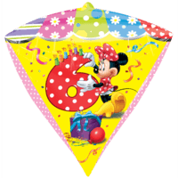 6th Minnie Birthday Diamondz Balloon in a Box