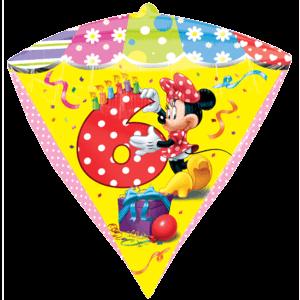 6th Minnie Birthday Diamondz Balloon in a Box