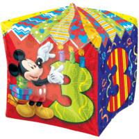 3rd Birthday Mickey Mouse Cubez Balloon in a Box