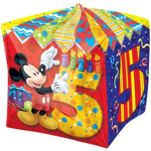 5th Mickey Mouse Birthday Balloon in a Box