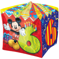 6th Mickey Mouse Birthday Balloon in a Box