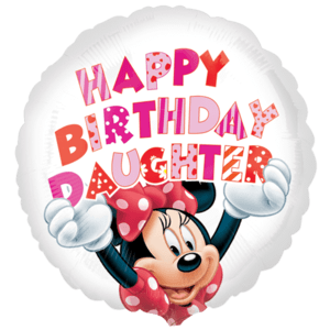 Minnie Mouse Birthday Daughter Balloon in a Box