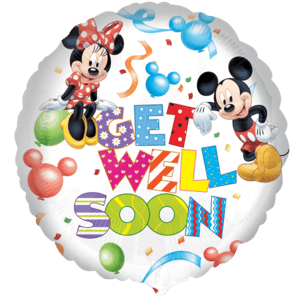 Mickey & Minnie Get Well Soon Balloon in a Box
