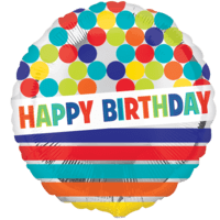 "18"" Colourful Happy Birthday Balloon in a Box"