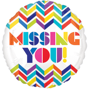 Missing You Chevrons Balloon in a Box