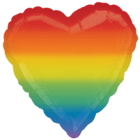Radiant Rainbow Heart Balloon in a Box