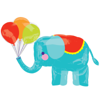 "Elephant Circus 36"" Supershape Balloon in a Box"