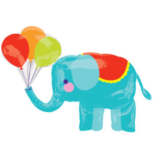 "Elephant Circus Supershape 36"""