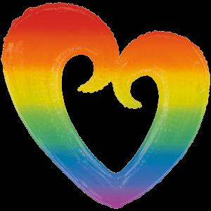 Open Rainbow Heart