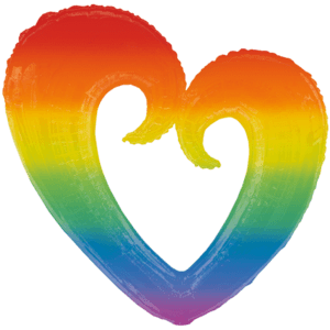 Rainbow Heart Balloon in a Box